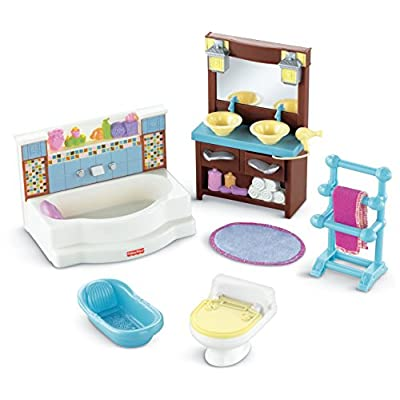 Fisher-Price Loving Family Bathroom Playset: Toys & Games
