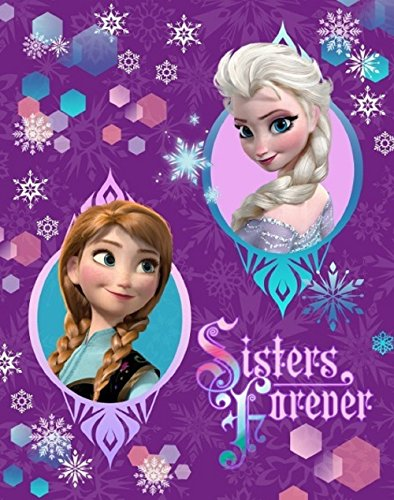 All american Collection New Purple Baby Frozen Sherpa Throw Blanket Anna and Elsa