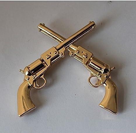 Western Pendant Crossed Pistols Guns Silver Rhinestones Your Pick 7 Choices