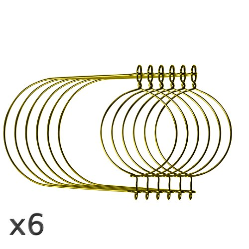 Gold Wire Handles for Mason Jars , Ball, Canning Jars (6 Pack, Regular Mouth)