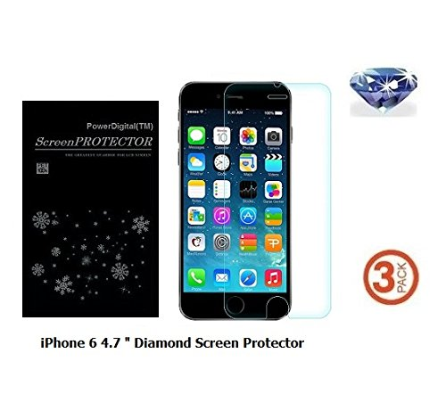 best website 0ca5d 19da0 Powerdigital(tm) Diamond Sparkling Glitter Screen Protector for Apple  iPhone 8/iPhone 7/iPhone 6/6s 4.7 Inch with Lint Cleaning Cloth (Retail ...