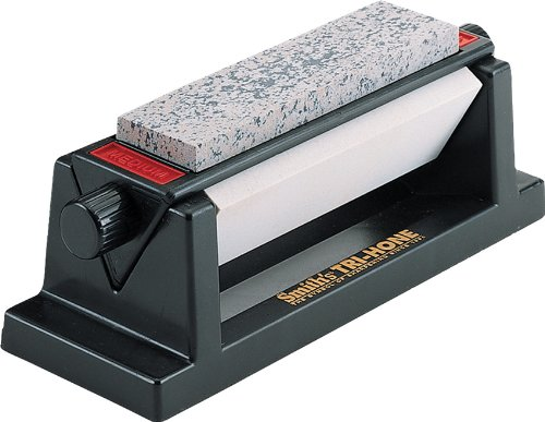 - Smith's TRI-6 Arkansas TRI-HONE Sharpening Stones System