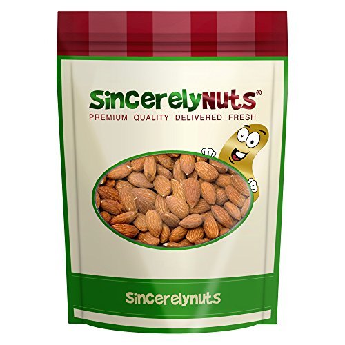 Sincerely Nuts Roasted Whole Salted Almonds No Shell - Three Lb. Bag - Insanely Delicious- Unmatched Freshness - Filled with Healthy Nutrients - Kosher (Whole Almonds Roasted)
