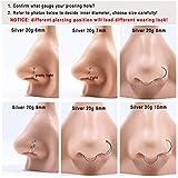 18g 10mm Nose Rings 18 Gauge Nose Ring Hoop for Men
