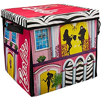 Amazon Com Barbie Zipbin 40 Doll Dream House Toy Box