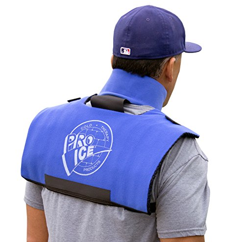 Pro Ice Scapula and Cervical Ice wrap - For Shoulder & Neck Pain Relief - Ice Packs Included