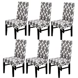 JIAN YA NA Dining Chair Covers Set of 6 Spandex Short Dining Chair