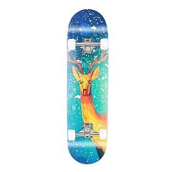 Skateboard Patinete de 4 Ruedas de 80 cm para niños y ...
