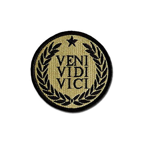 Tactical Combat Bagde Military Hook And Loop Badge Embroidered Velcro Morale Patch   Veni Vidi Vici Acu