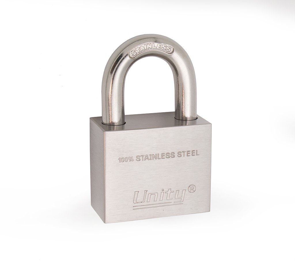 "100% Stainless Steel Padlock 1-1/2"", Marine lock, no rust, all weather proof, anti-pick (Keyed Differ)"