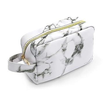 Amazon.com: Bolsas de maquillaje de mármol, LKE Neceser ...
