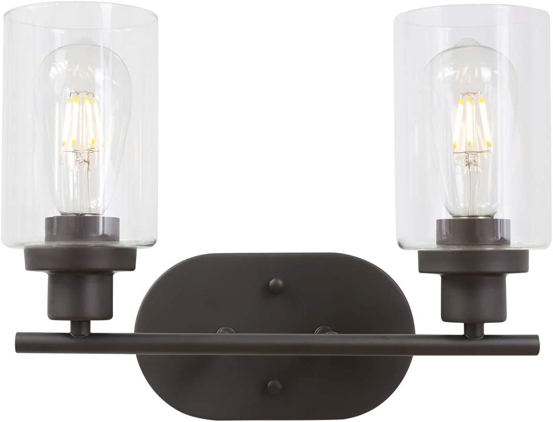 VINLUZ 2 Light Wall Sconces ORB Bathroom Lighting
