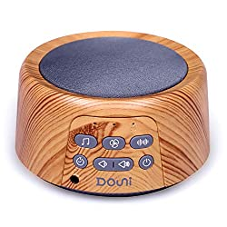 Douni Sleep Sound Machine - White Noise Machine with 24 Non-Looping Soothing Sounds for Sleeping & Relaxation, Timer & Memory Function,Sleep Therapy for Kid, Adult, Home,Office,Travel.Wood Grain