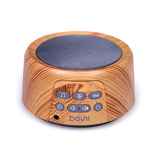Douni Sleep Sound Machine – White Noise Machine with 24 Soothing Sounds for Sleeping & Relaxation, Timer & Memory Function,Sleep Therapy for Kid, Adult, Nursery, Home,Office,Travel.Wood Grain