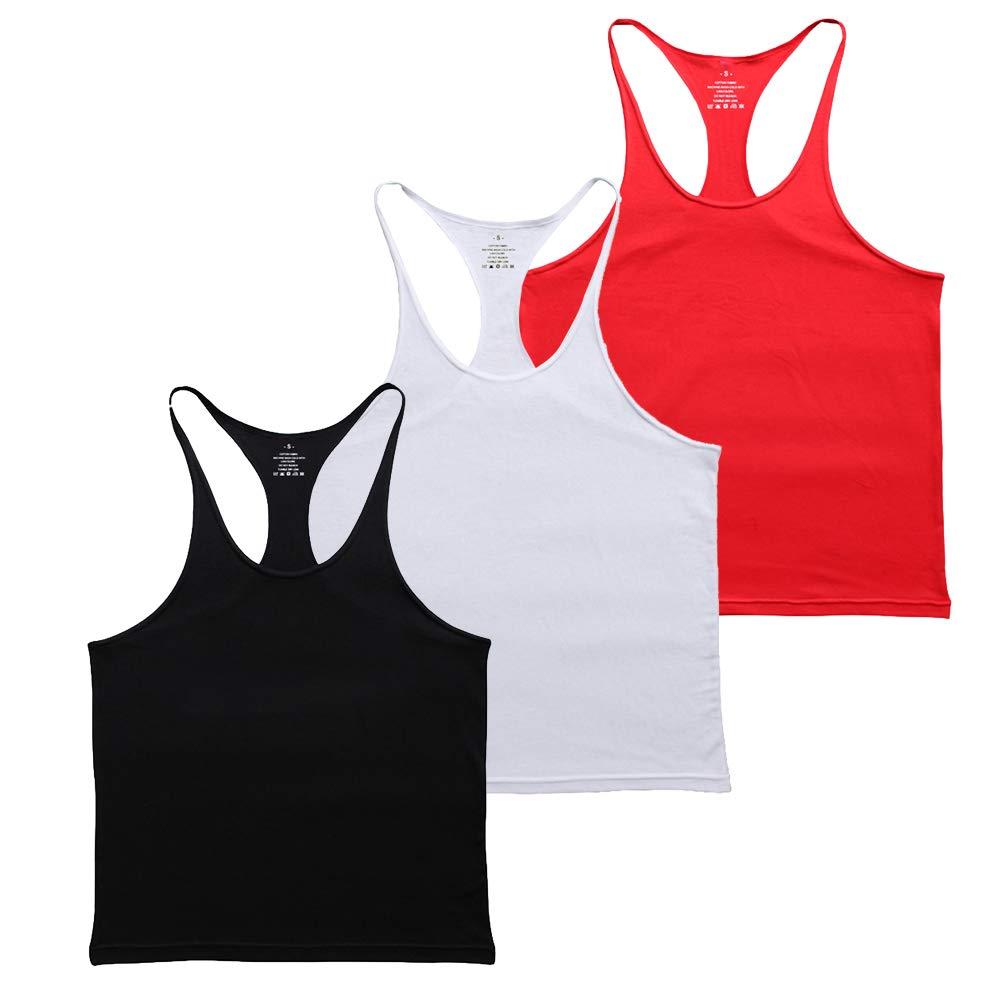 Muscle Alive Blank Bodybuilding Stringer Tank Tops Men Cotton