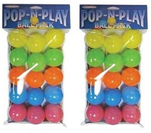 (2 Packages) Marshall Pet Products Pop-N-Play Ball - Each Package Contains 15 ()