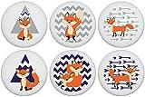 Fox Family Woodland Forest Animal Ceramic Dresser