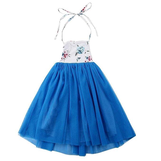 Amazon.com: Qijovo - Vestido de tul para bebé y niña, sin ...