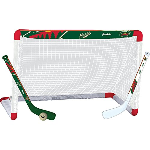 Franklin Sports NHL Minnesota Wild Team Mini Hockey Set