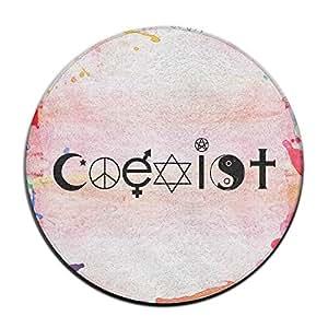 Fashion ciencia Coexistir paz Cruz símbolo Felpudo Welcome Mat