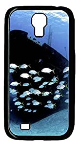 Galaxy S4 Case, Unique Design Protective Hard PC Black Boat Fish Case Cover for Samsung Galaxy S4