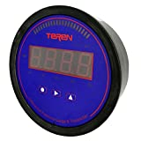 TEREN Multifunction Differential Pressure Gauge, DPG4000, 1% Accuracy, 5 Units Selectable, Power 15 to 28V DC/AC, Range 2.0'' WC, 4 Bits 0.8'' Red LED