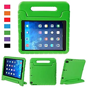 BelleStyle Funda para iPad 2018/2017 9.7 Pulgada - EVA Prueba de Choques Protector Niños Case Convertible Manejar Cubierta de Soporte para iPad 9.7 ...