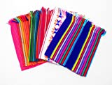 NEW colorful, Mexican napkins for a fun Mexican themed party! This napkins are made from a soft, woven fabric with unique tribal style designs. Color: Blue, red, pink yellow with tribal designs Measurements: 20 inches long x 14 inches wide (5...