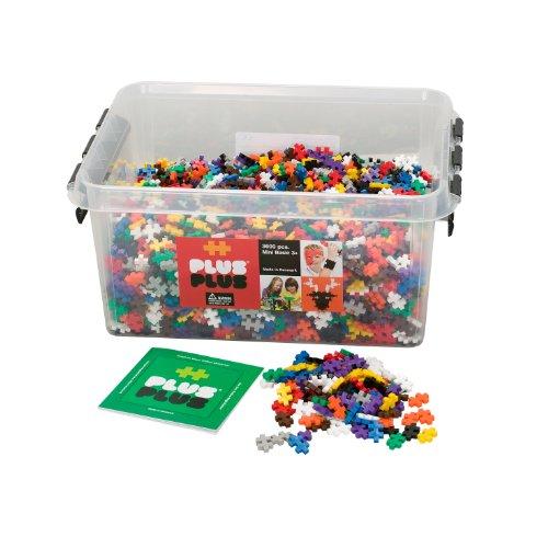 PLUS PLUS - Construction Building Toy, Open Play Set - 3,600 Pieces with Storage Tub - Basic Color Mix