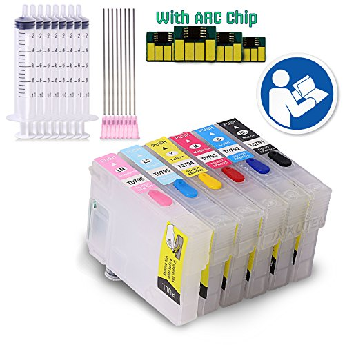 INKUTEN - EMPTY Refillable Cartridges for Artisan 1430 #79 T079 Easy-to-refill With Resettable Chips
