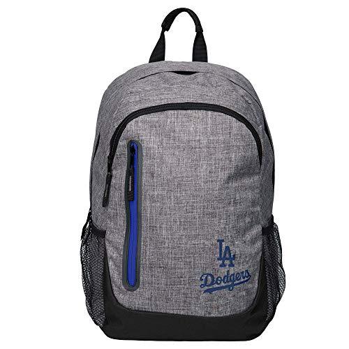 (FOCO MLB Los Angeles Dodgers Mens Heather Grey Bold Color BACKPACKHEATHER Grey Bold Color Backpack, Team Color, One Size)