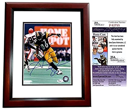 789af878f Hines Ward Signed - Autographed Pittsburgh Steelers 8x10 inch Photo  MAHOGANY CUSTOM FRAME - JSA Certificate