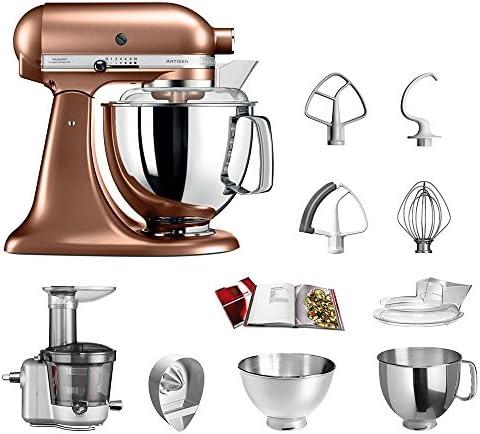 KitchenAid Robot de cocina fop Conjunto | Artisan 5 ksm175ps Licuadora del paquete |, incluye Licuadora vorsatz, Exprimidor y accesorios estándar cobre: Amazon.es: Hogar