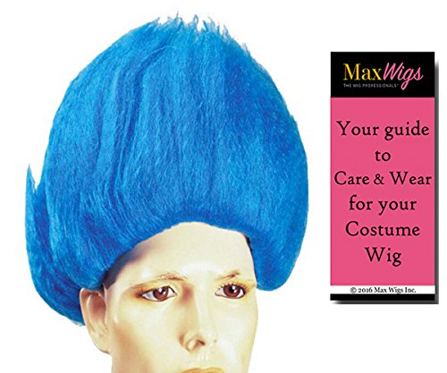 Troll Color Neon Yellow - Lacey Wigs Thing GNOME Oompa Loompa Wig Famous Bundle With MaxWigs Costume Wig Care Guide]()