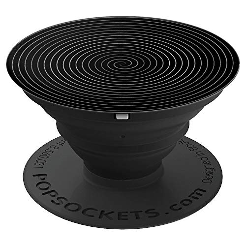 (Black Digitalised Coil Twist Effect - PopSockets Grip and Stand for Phones and Tablets)