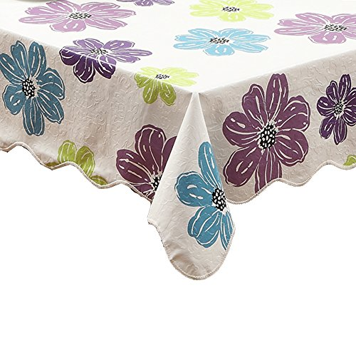 Artisan Flair AF5472-219 Purple Flower Vinyl Tablecloth Oblong-54
