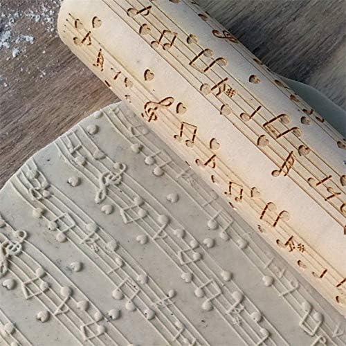ZMW Mattarello Legno Note Musicali inciso mattarello Legno Strumento di Cottura