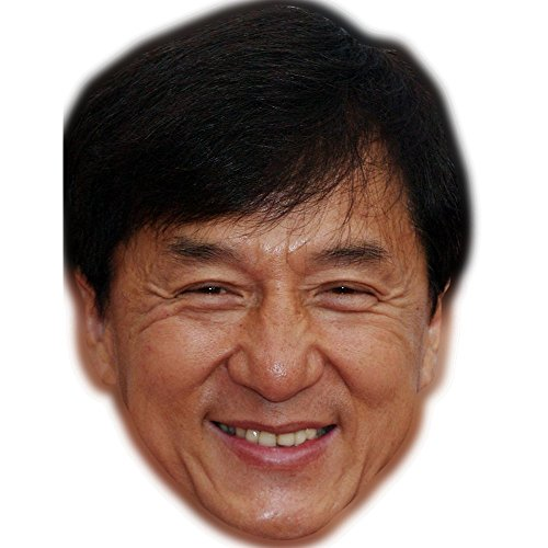 Jackie Chan Celebrity Mask, Card Face and Fancy Dress Mask