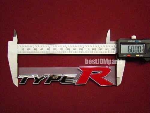JDM Genuine Rear Type R Emblem for Honda Civic Fd1 Fd2