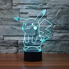 3D visual creative lamp is an innovative artistic atmosphere light,optical acrylic light guide plate engraving a variety of 2D graphics, 3D visual impact, led source, import SCM process control, touch- sensitive switch, single or 7 colors cha...
