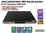 ACEUME Android Cloud Karaoke Jukebox Player with 33K Vietnamese MKV DVD HD Songs,4TB HDD,2017 December updated,AK1C36,4K, Cloud download, KODI, Watch TV, Select songs via mobile device.