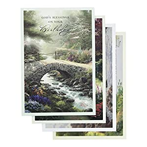 Amazon dayspring birthday boxed cards thomas kinkade dayspring birthday boxed cards thomas kinkade painter of light 12 ct with kjv scriptures 86068 bookmarktalkfo Choice Image