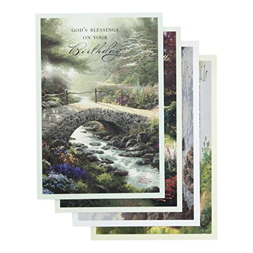 Thomas Kinkade - Birthday Inspirational Boxed Cards - Outdoors