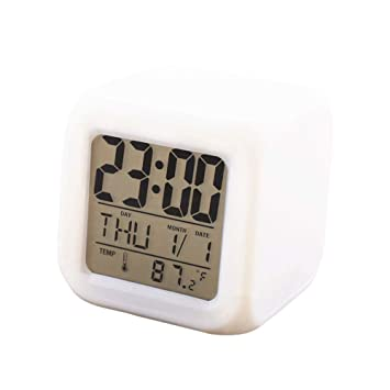 Linyuo Cuarteto Creativo Mudo Reloj Despertador Colorido ...
