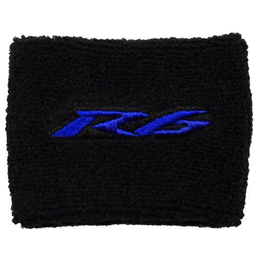 (Yamaha R6 Black/Blue Brake Reservoir Cover by MotoSocks Fits YZF-R6, R6)