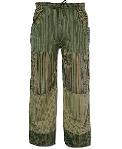 Soul Flower Men's Puttin' on The Jams Patch Pants (Small, Green)