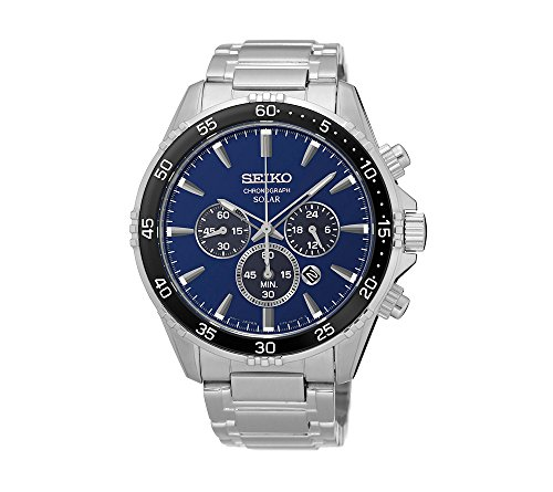 Seiko-Mens-Solar-Chronograph-Silvertone-Watch-with-Blue-Dial