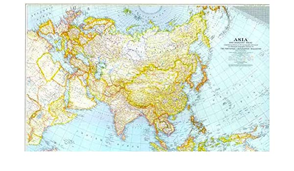 Asia and Adjacent Areas 1951 (map only): Amazon.com: Books