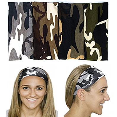 Amazon.com  Unijew Headbands Women Vintage Yoga Headband Lace Headband  Flower Elastic Women Criss Cross 80s Headband Head Wrap Knotted Hair Band  Turban ... 1294b3a5770
