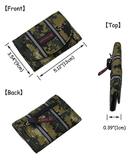 Die neuen Männer Segeltuchhandtasche mit einem Reißverschluss Münzfach Tasche S-Braun 93YMmD